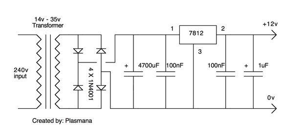make a simple 12 volt power supply